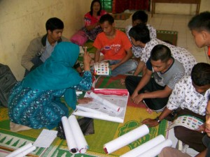 Relawan Demokrasi KIP Kota Banda Aceh, melakukan sosialisasi untuk kelompok difabel yang ada di Kota Banda Aceh.