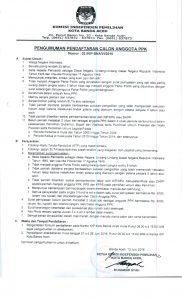 Pengumuman Penerimaan PPK Kota Banda Aceh Pilkada 2017_001